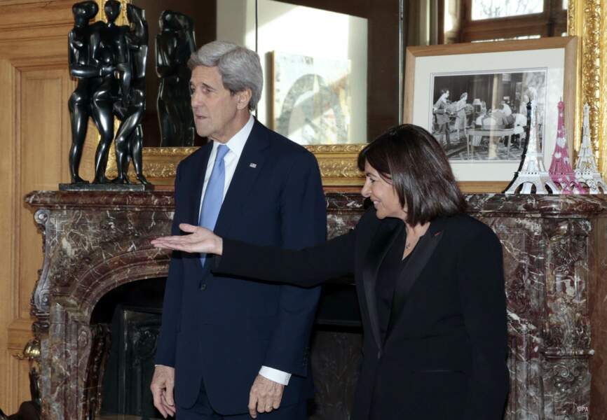 Anne Hidalgo et John Kerry