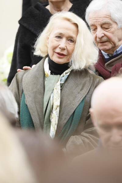 Brigitte Fossey lors des obsèques de Michel Legrand en la cathédrale orthodoxe Saint-Alexandre-Nevsky à Paris