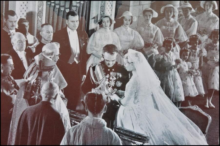 Mariage du Prince Rainier III et de Grace Kelly le 19 avril 1956