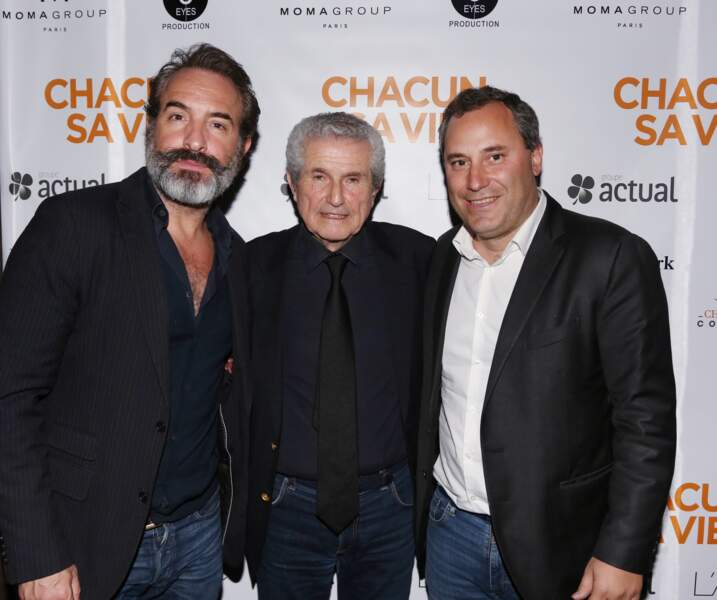"""Jean Dujardin et Nathalie Péchalat ensemble pour la première de """"Chacun sa vie"""" de Claude Lellouch"""