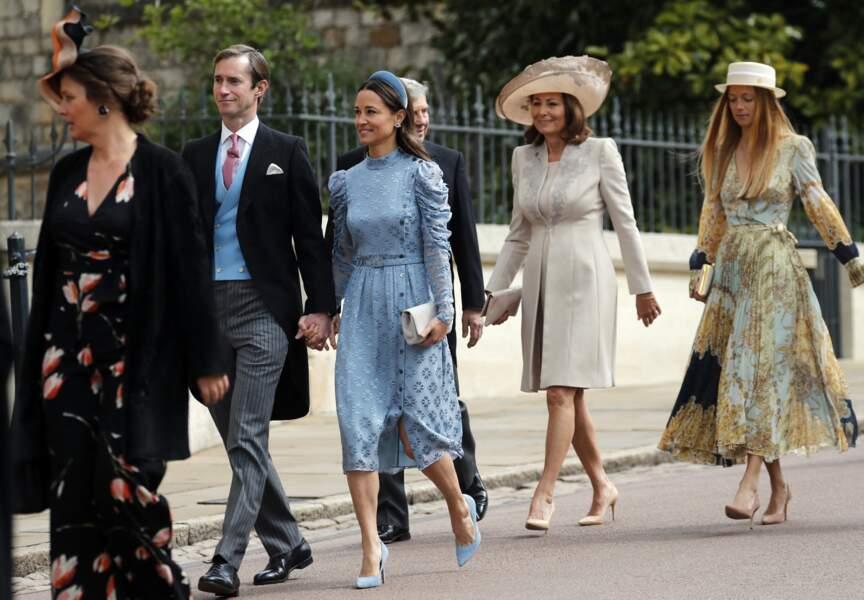 Carole Middleton, mère de Pippa et Kate Middleton, est aussi venue au mariage de Gabriella Windsor, le 18 mai 2019