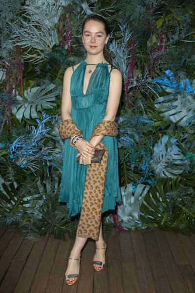 A cette occasion, Alexandra de Hanovre portait une jolie robe bleu-vert d'inspiration vestale le 18 mai à Monaco
