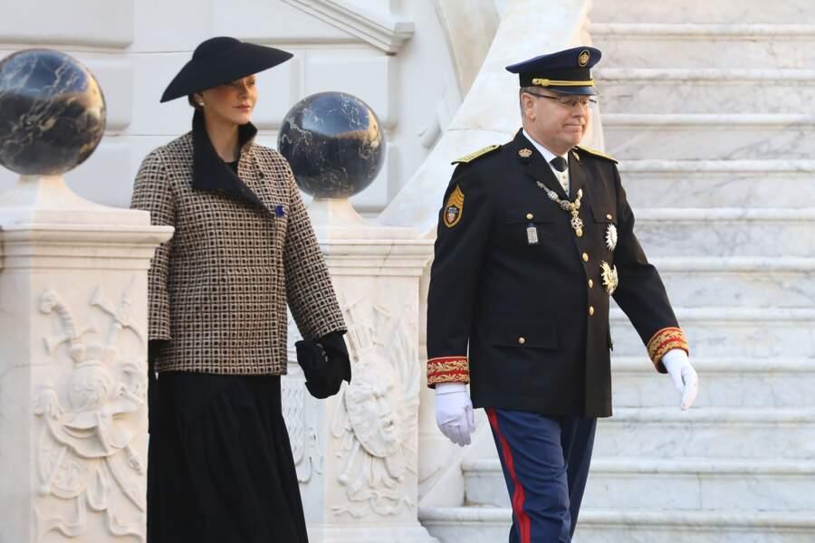 La princesse Charlene et le prince Albert II de Monaco célèbrent la fête nationale de Monaco