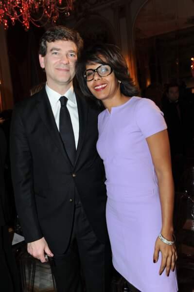 Arnaud Montebourg et Audrey Pulvar lors de la soirée GQ en 2012