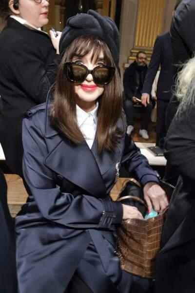Isabelle Adjani au défilé Lanvin