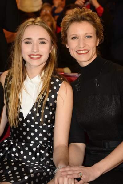 Alexandra Lamy et sa fille Chloé Jouannet le 11 février 2015