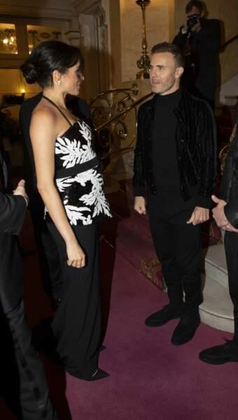 Meghan Markle très élégante à la soirée Royal Variety Performance à Londres le 19 novembre 2018.