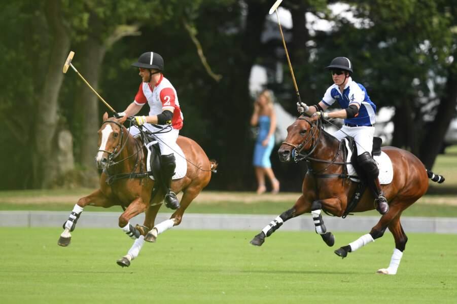 William et Harry réunis pour un match de polo