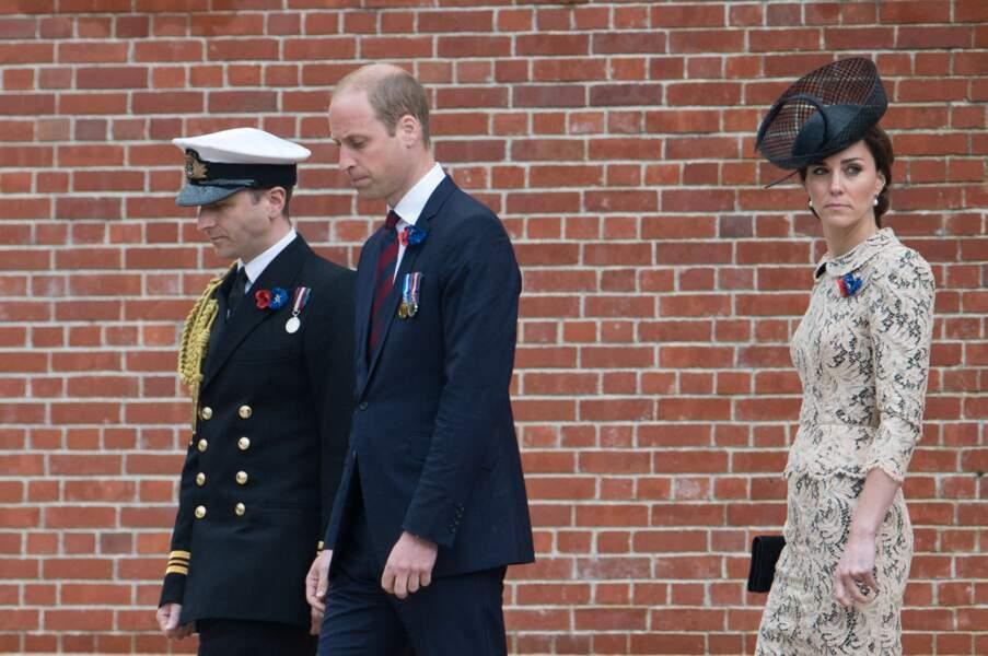 Le prince William avait lui aussi un air très sérieux