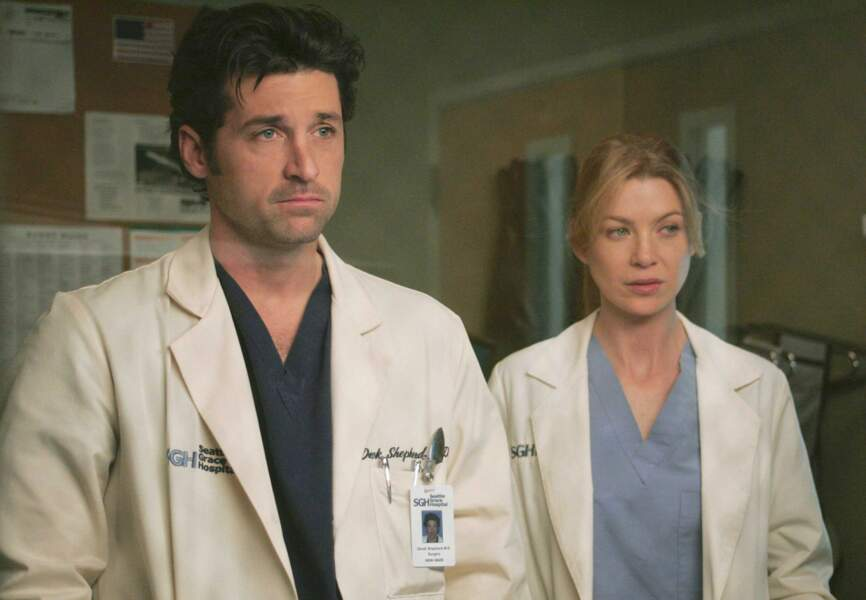 Derek et Meredith dans Grey's Anatomy