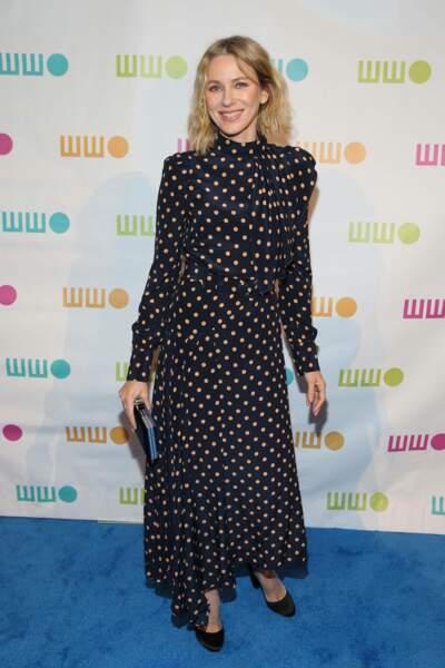Naomi Watts se démarque en robe noire Alessandra Rich à New York, le 5 novembre 2018
