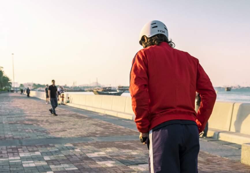 Edinson Cavani  le long de la corniche de Doha