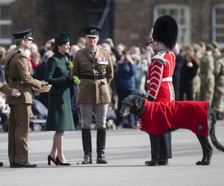 Kate Middleton lors de la parade de la Saint Patrick dans le quartier de Hounslow à Londres, le 17 mars.