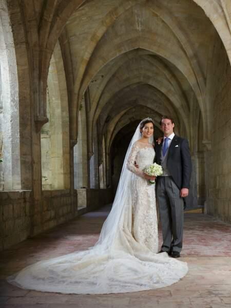 Mariage du prince Felix de Luxembourg et de Claire Lademacher (en Elie Saab) le 21 septembre 2013