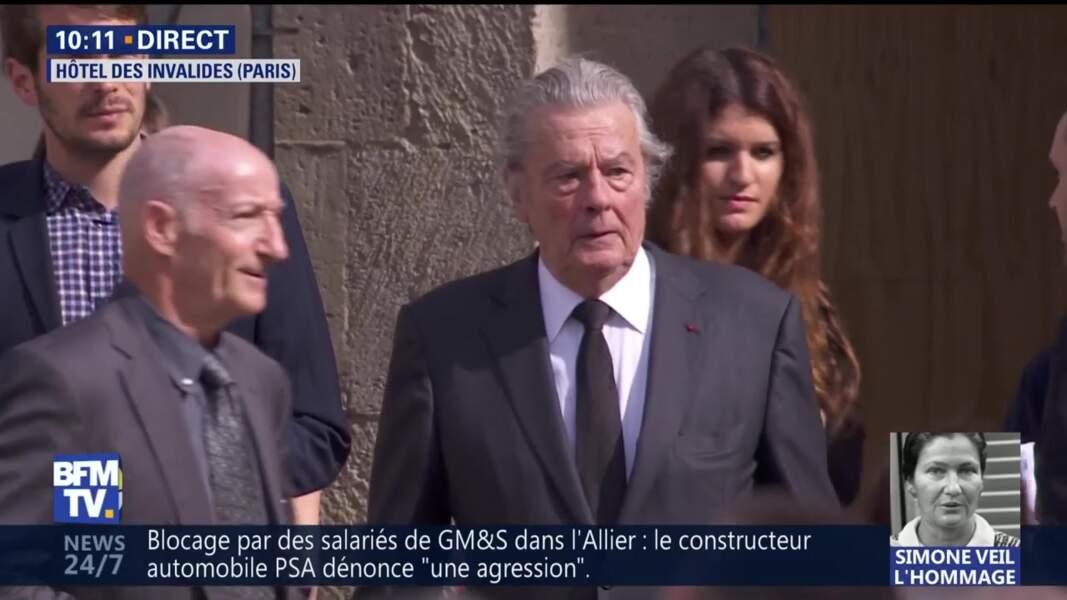 Alain Delon aux obsèques nationales de Alain Delon