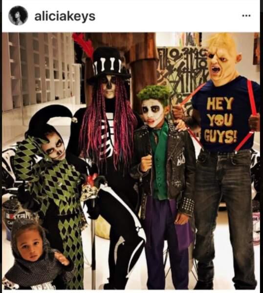 Alicia Keys en famille