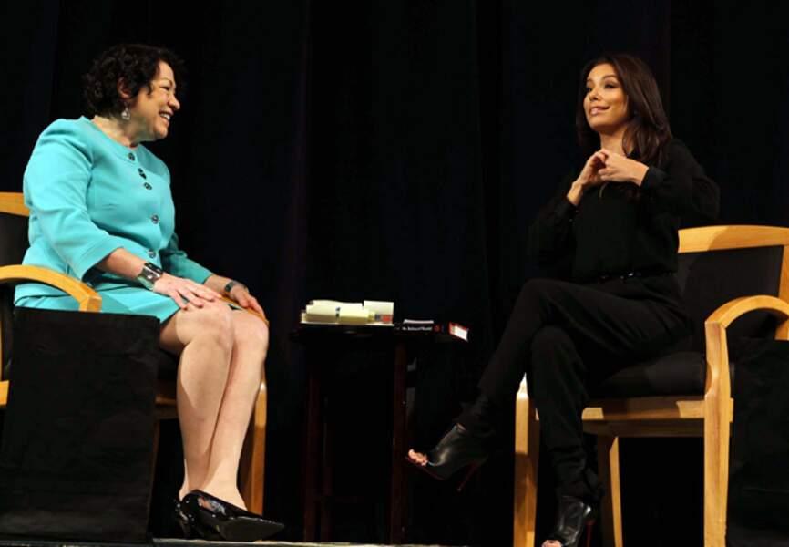 Eva Longoria discute justice sociale avec la juge de la Cour Suprême Sonia Sotomayor