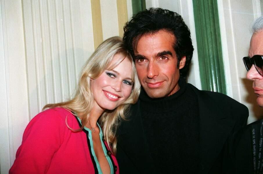 Claudia Schiffer et David Copperfield à Paris en 1994
