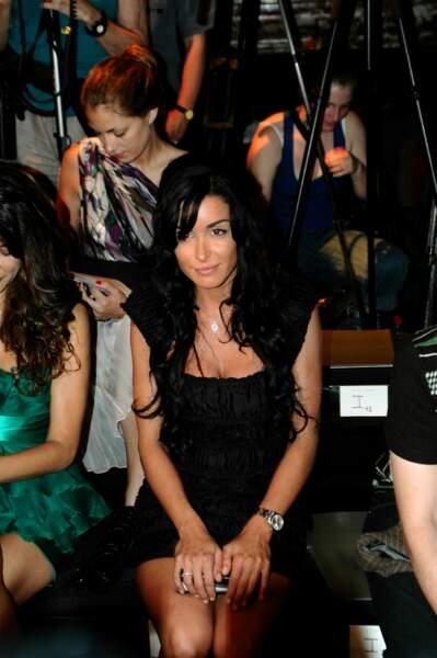 En 2008 devant un défilé de mode