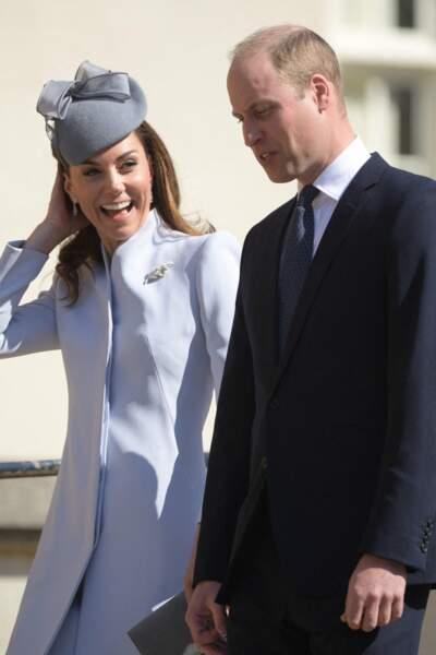 Très attendus, le prince William et Kate Middleton ont affiché l'unité de leur couple, malgré les rumeurs de crise