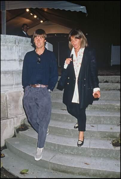 Nicolas Hulot et son épouse de l'époque, Dominique Cantien