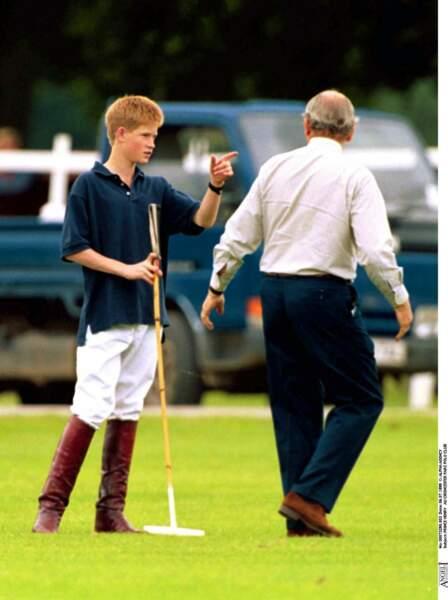 Le prince Harry au Cirencester Park Polo Club en 1999