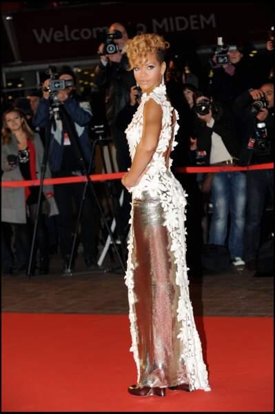 Rihanna, sur le tapis rouge des NRJ Music Awards à Cannes en 2010