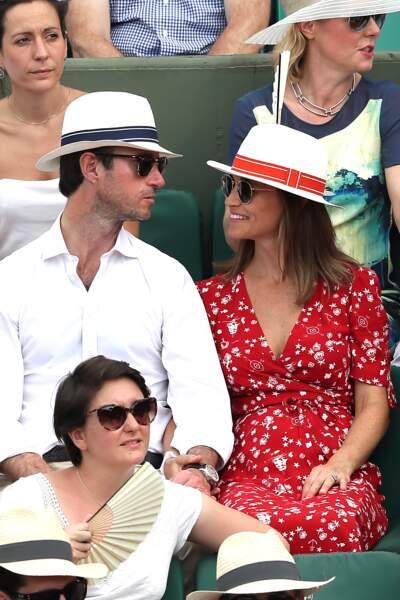Pippa Middleton et son mari ont opté pour des chapeaux afin de se protéger du soleil