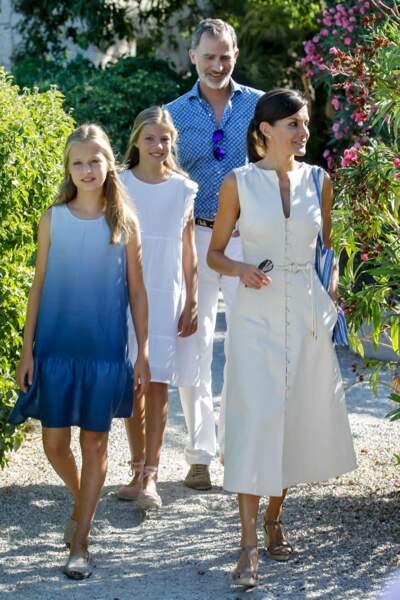 Felipe et Letizia d'Espagne se sont rendus à Majorque, accompagnés de leurs filles Leonor et Sofia
