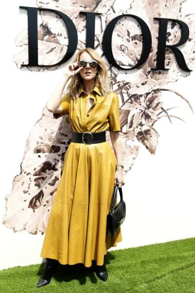 Pour rendre hommage à la maison parisienne, la chanteuse avait opté pour un total-look Dior