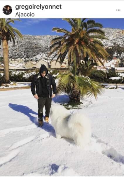 Grégoire Lyonnet et son chien Jon Snow