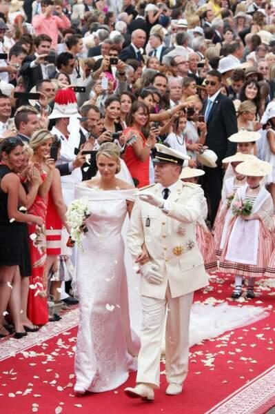 Mariage religieux d'Albert II de Monaco et Charlène Wittstock le 2 juillet 2011 en la chapelle Sainte-Devote