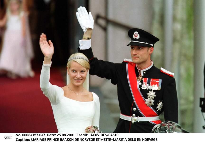Mariage du Prince Haakon et de Mette-Marit à Oslo le 25 août 2001