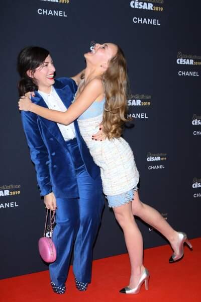 Lily-Rose avec sa marraine des Césars, la réalisatrice Rebecca Zlotowski