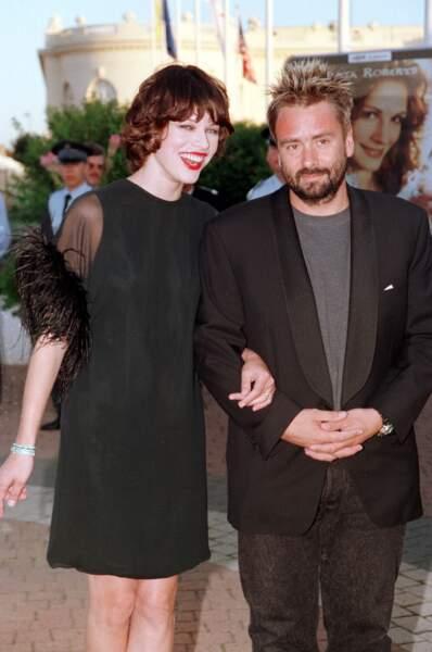 Milla Jovovich et Luc Besson (1997)
