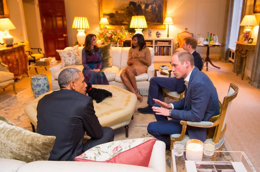 Dès 2016, les époux Obama leur ont rendu visite dans ce quadruplex d'une vingtaine de pièces en pleine rénovation