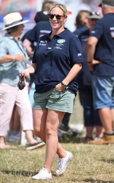 Zara Tindall, la petite-fille d'Elizabeth II, très heureuse au festival British Eventing 2018