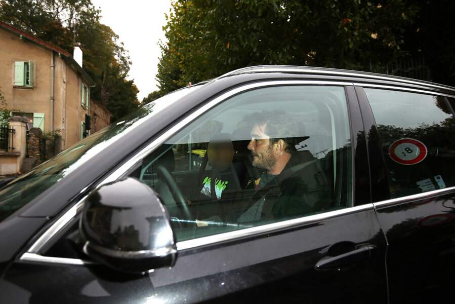 Sébastien Farran rend visite à Laeticia Hallyday à Marnes-la-Coquette, le 7 Octobre 2018