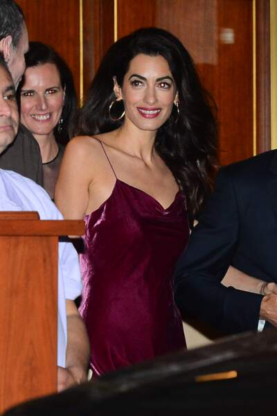 Amal Clooney et George Clooney à l'anniversaire de Jennifer Aniston