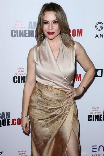 Alyssa Milano à la 32ème soirée annuelle American Cinematheque Awards à Beverly Hills, le 29 novembre 2018