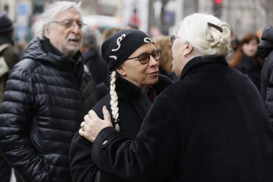 Jean-Pierre Laffont, Dominique aux obsèques de Henry Chapier en l'église Notre-Dame des Champs le 4 février 2019
