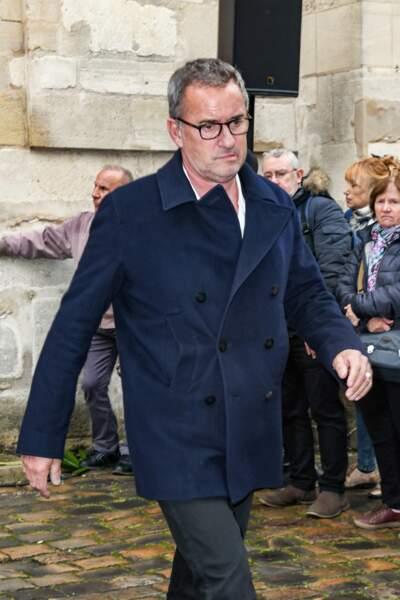 Christophe Dechavanne - Obsèques de Dick Rivers en léglise Saint-Pierre de Montmartre à Paris le 2 mai 2019.