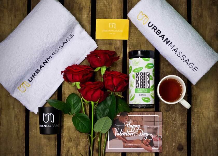 Box Saint-Valentin, Urban Massage, 199€  les 60 minutes