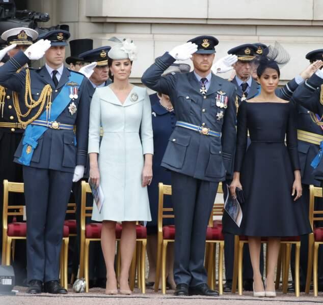 Meghan Markle, duchesse de Sussex habillée en Dior Haute Couture par Maria Grazia Chiur.