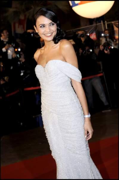 Valérie Begue, Miss France 2008, assiste à la cérémonie des NRJ Music Awards à Cannes