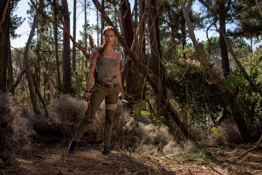 "Alicia Vikander, Lara Croft version 2018 dans le film ""Tomb Raider"""