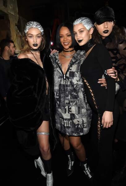 Rihanna et les soeurs Gigi et Bella Hadid
