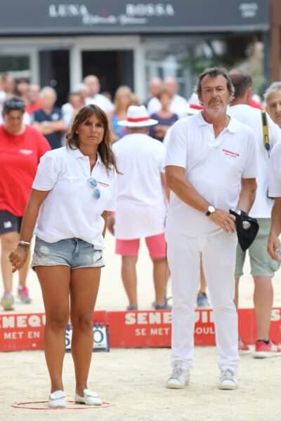 """Jean-Luc Reichmann et sa femme Nathalie ont participé au trophée de pétanque """"Sénéquier 209"""" à Saint-Tropez"""