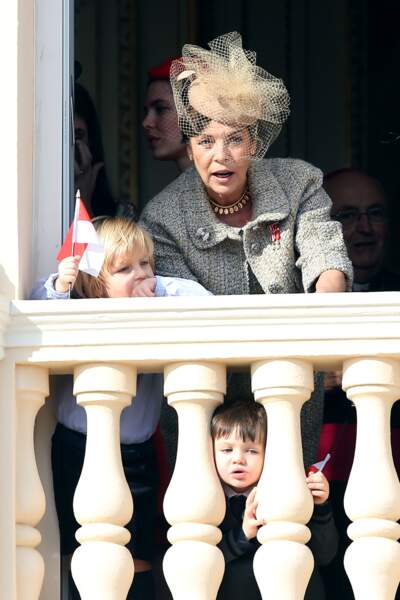 La princesse Caroline de Hanovre, Sacha Casiraghi et Raphaël Casiraghi
