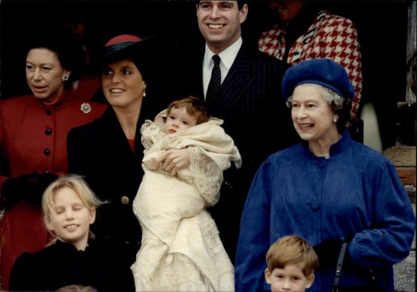 Baptême de la princesse Eugénie, le 23 décembre 1990